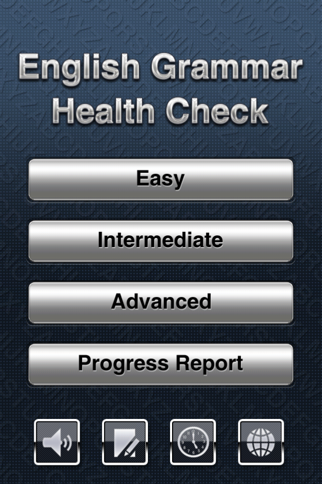 Screenshot English Grammar Health Check